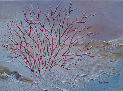 Red Branches Art Print by Judith Rhue