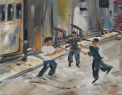 Philadelphia Pa Painting - Red Brick Ballet by Judith Rhue
