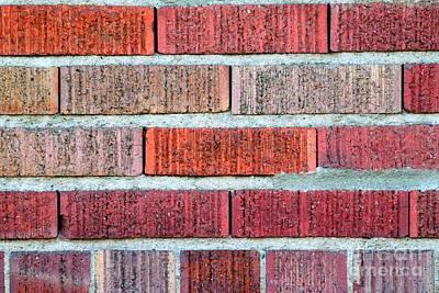 Red Brick Wall Art Print by Henrik Lehnerer