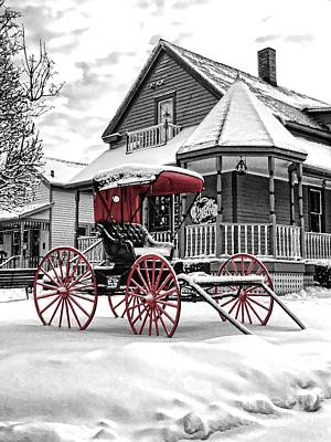 Photograph - Red Buggy At Olmsted Falls - 2 by Mark Madere