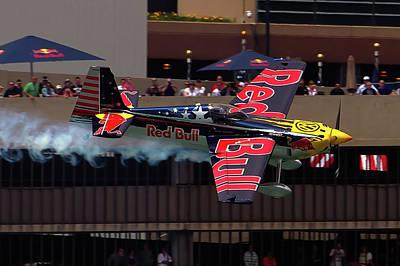 Red Bull Air Racing Art Print by Bill Lindsay