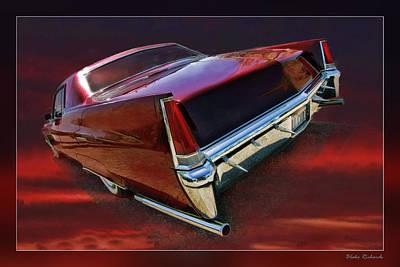 Red Cadillac Art Print by Blake Richards