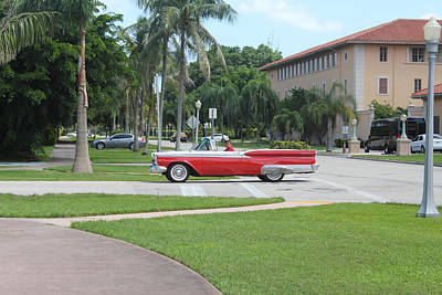 Photograph - Red Cadillac by David Grant