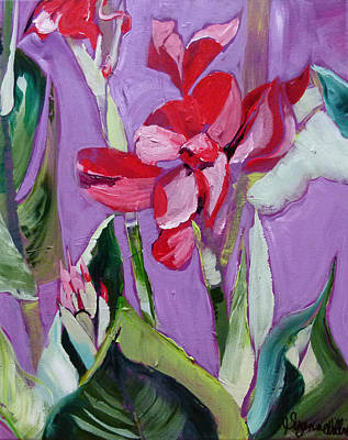 Red Canna Lily Original by Suzanne Willis