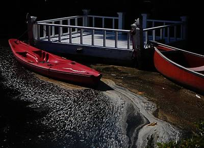 Photograph - Red Canoes by Daniele Smith