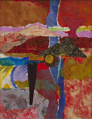 Mixed Media - Red Canyon by Jillian Goldberg