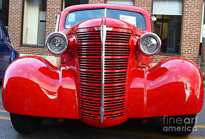 Photograph - Red Car by Nick Jene