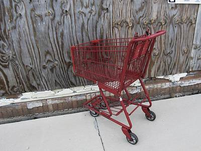 Red Cart 2 Art Print by Todd Sherlock