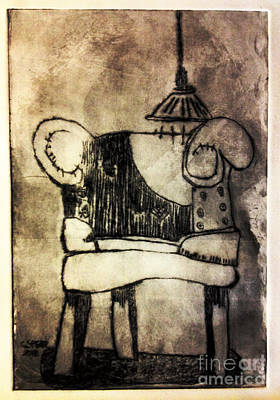 Printmaking Drawing - Red Chair Of Reading Edition Of 6 by Charlie Spear