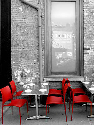 Photograph - Red Chairs by Bennie Reynolds
