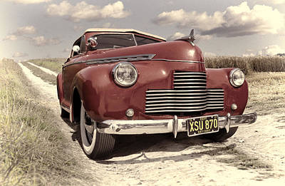 Photograph - Red Chevrolet by Ian Merton
