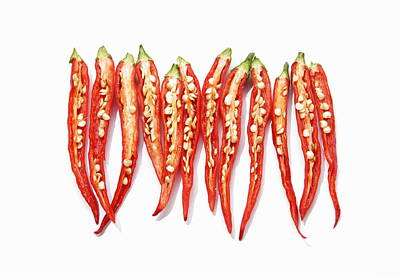 Y120907 Photograph - Red Chili Peppers by Sot