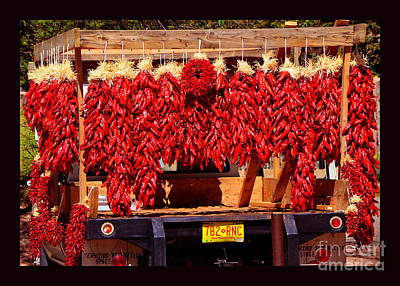 Granger Royalty Free Images - Red Chili Ristra Truck Royalty-Free Image by Susanne Still