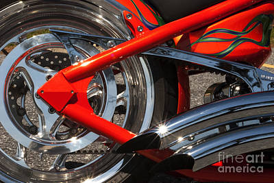 Photograph - Red Chopper Detail by Paul W Faust -  Impressions of Light