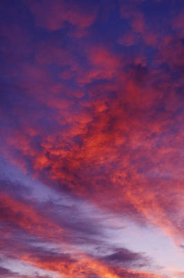 Red Clouds Art Print by Garry Gay