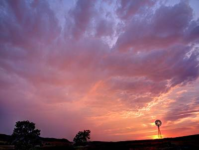 Photograph - Red Clouds by HW Kateley