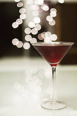 Red Cocktail Art Print by Eliza Claire Photography