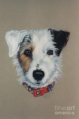 Pastel - Red Collar by Susan Herber