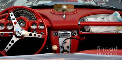 Photograph - Red Corvette Dash by John Black