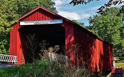 Photograph - Red Covered Bridge by Bruce Bley
