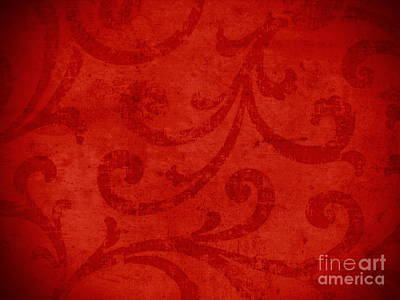 Red Crispy Oriental Style Decor For Fine Design. Original by Marta Mirecka