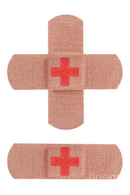 Red Cross Bandages Art Print by Blink Images
