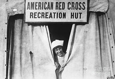 Photograph - Red Cross Nurse, 1918 by Photo Researchers