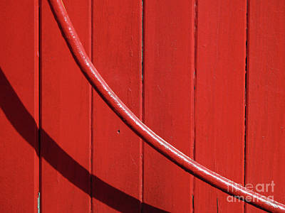 Art Print featuring the photograph Red Curve by Newel Hunter