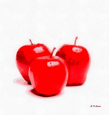 Red Delicious Apples Art Print by Elizabeth Coats