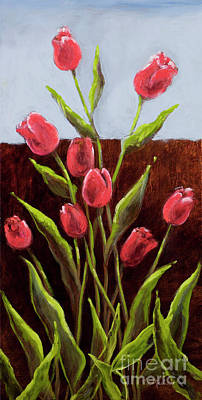Red Delight-tulips Art Print