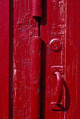 Red Doors Photograph - Red Door Close Up by Garry Gay