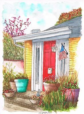 Red Door In West Hollywood - California Original by Carlos G Groppa