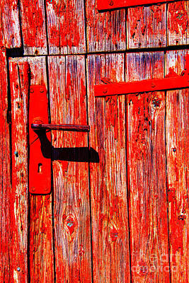 Red Door Art Print by Rick Bragan