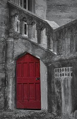 Black Photograph - Red Door by Susan Candelario