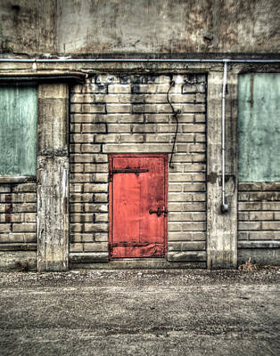 Brick Silos Photograph - Red Door by Tammy Wetzel
