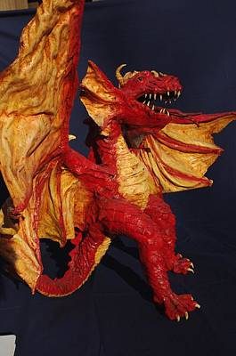 Sculpture - Red Dragon by Rick Ahlvers