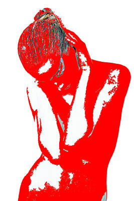 Red Drama Art Print by Naxart Studio