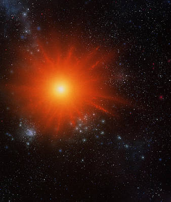 Red Dwarf Star Art Print