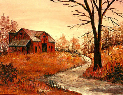 Painting - Red Farm by Lou Ann Bagnall