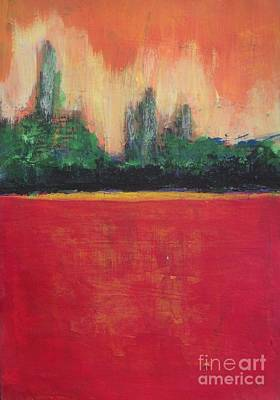 Poppies Field Painting - Red Poppy Field by Vesna Antic