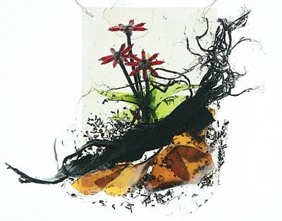 Red Flowers Art Print by Mariann Taubensee
