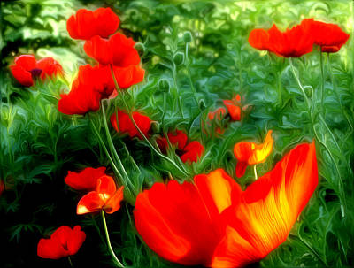 Photograph - Red Flowers by Vladimir Kholostykh