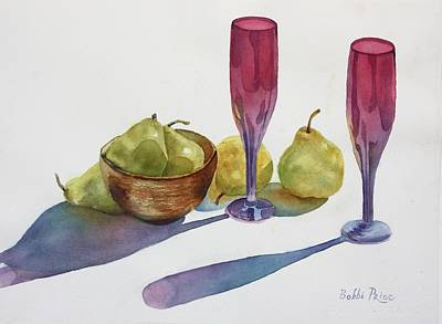 Painting - Red Flutes And Pears by Bobbi Price