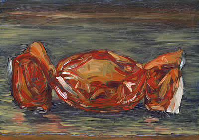 Interior Still Life Painting - Red Foil by Scott Bennett