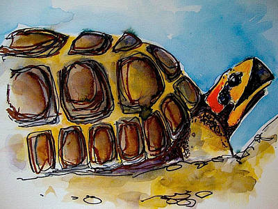 Red Foot Tortoise Art Print by Richard Greene