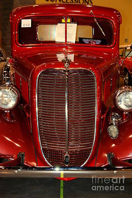 Antique Ford Truck Grill Photograph - Red Ford by Susanne Van Hulst