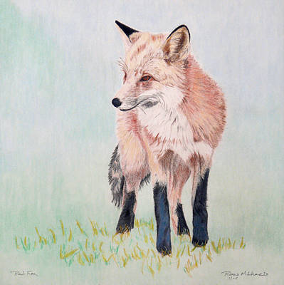 Red Fox Mixed Media - Red Fox by Ross Michaels