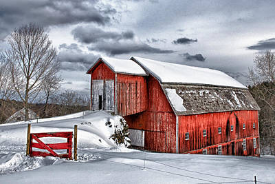 Photograph - Red Gate Farm Winter by Fred LeBlanc
