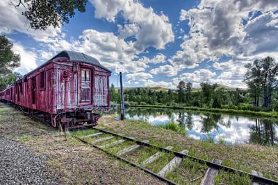 Red Ghost Town Train - Montana Art Print by Daniel Hagerman