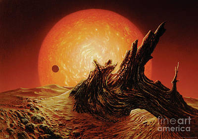 Red Giant Sun Print by Don Dixon